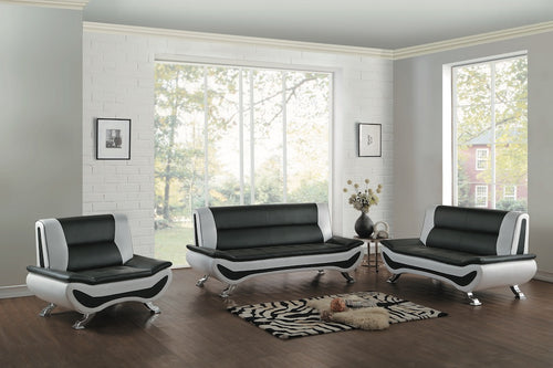Italian Race Car Inspired Vinyl Sofa & Love Seat