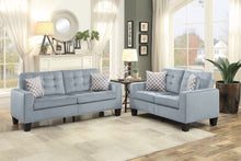 Load image into Gallery viewer, Gray or Chocolate Sofa & Love Seat