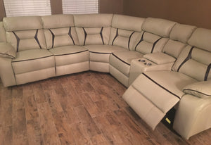 Ultra Modern 6 Piece Smart Sectional - 3 Power Recliners 2 USB Ports