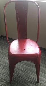 Chic Red Industrial Chair