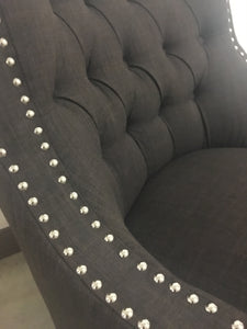 Nailhead Accent Chair 4 Colors to Choose! Teal, Taupe, Indigo and Chocolate!