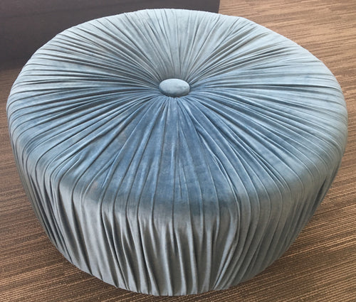 Light Blue Ottoman