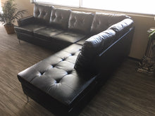 Load image into Gallery viewer, Black Bi-Cast Vinyl Sectional 3 Colors! Gray, Brown or Black