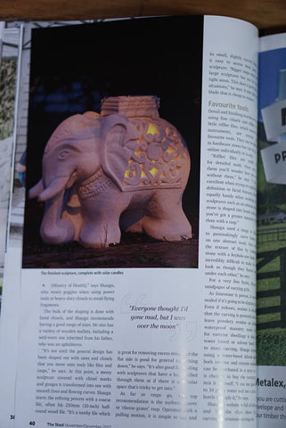 My sculptures are now featured in the Shed magazine