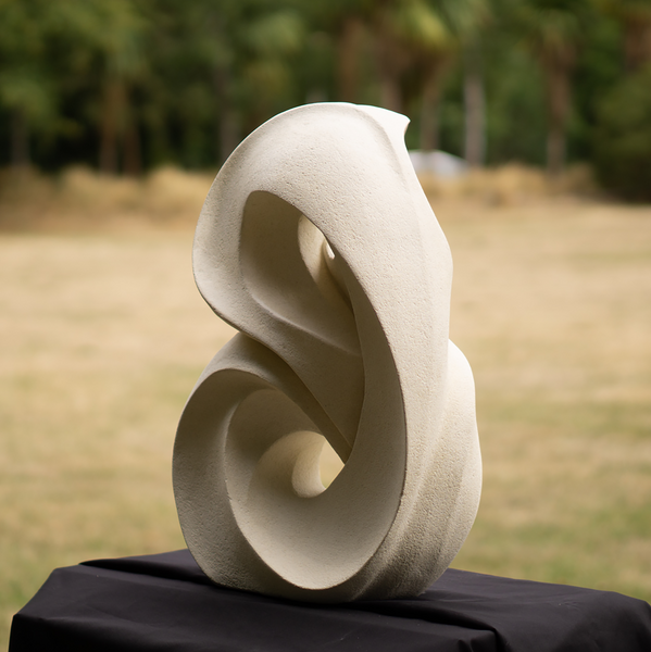 abstract stone carving