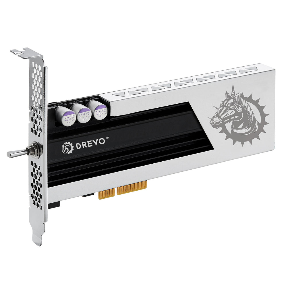 DREVO ARES 256GB HHHL PCIe MLC SSD NVMe Solid State Drive with Heatsink Read 1400MB/S Write 600MB/S (Available to EU and US)