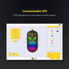 DREVO Falcon RGB-LED Lightweight Wired Gaming Mouse 16000DPI Optical Sensor (PixArt PMW 3389), 1000Hz Report Rate, 400IPS, Ultra-Soft Cable and Honeycomb Shell