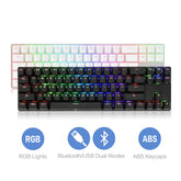DREVO Calibur 71-key RGB LED Backlit Wireless Bluetooth 4.0 Mechanical Keyboard Black/White Version