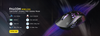 DREVO Falcon Wireless Lightweight Gaming Mouse with High-Grade PAW3335 Optical Sensor, Low-Latency 2.4G Wireless Connection, 1000Hz Polling Rate, 16000 DPI, 400IPS, Ultra-Soft Cable and Full-Body RGB Illumination