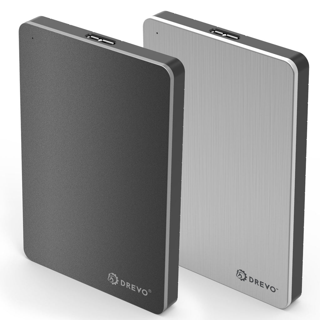 DREVO P1 Thin Aluminium Portable Storage Device External Hard Drive USB 3.0 500G/1T