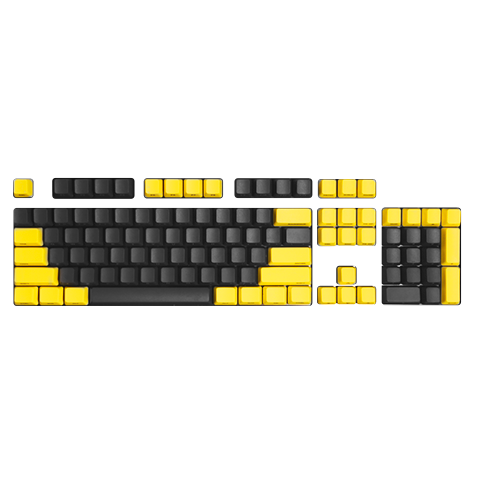 DREVO 104-Key 1.5mm Standard Profile Side-Printed PBT Keycaps-ANSI