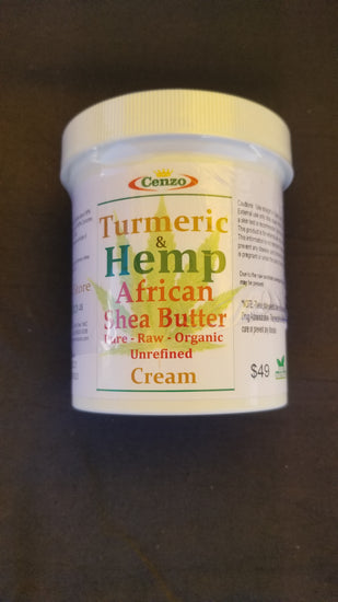 TURMERIC WITH HEMP & AFRICAN SHEA BUTTER - Turmeric Boss