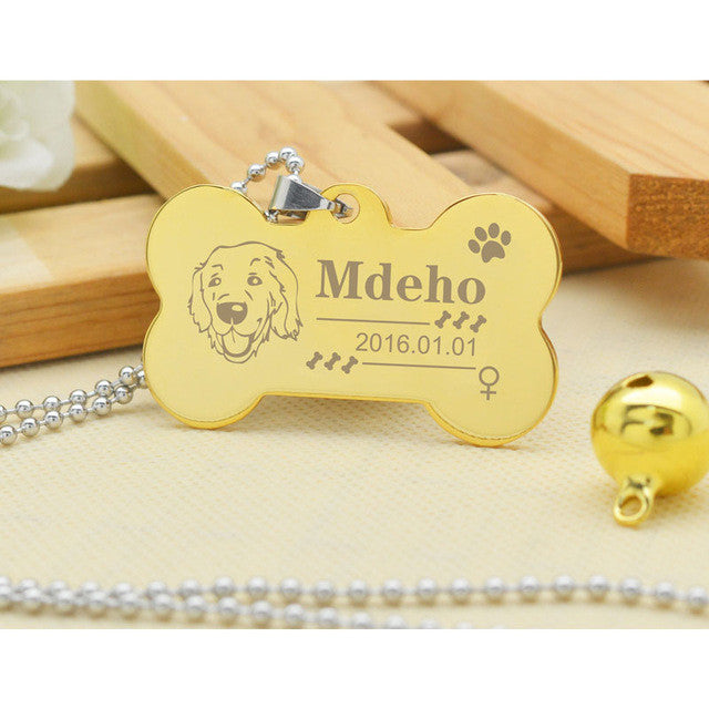 Personalized Name Tag, ID Tag Collar for Dog, Cat, or other Pets, Engraved Name, Telephone Number of Your Pet, Support Multiple Languages - FOR MY LITTLE ANGELS