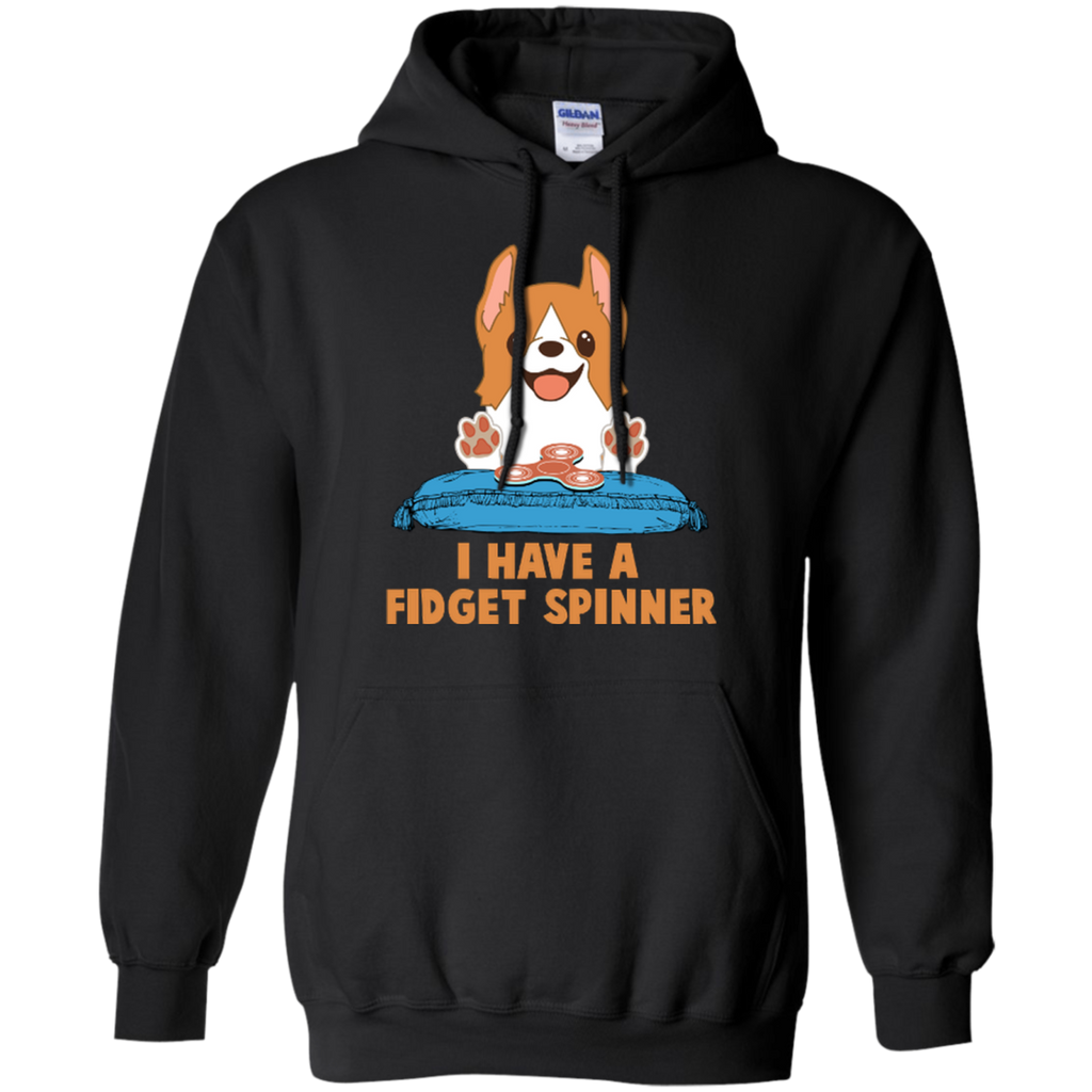 Corgi I Have A Fidget Spinne Funny G185 Gildan Pullover Hoodie 8 oz. - FOR MY LITTLE ANGELS