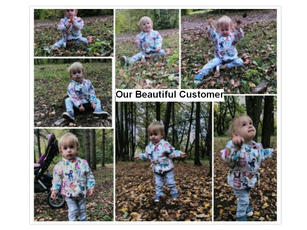 Animals and Flowers Printed Coat for Baby 4-24 months - FOR MY LITTLE ANGELS