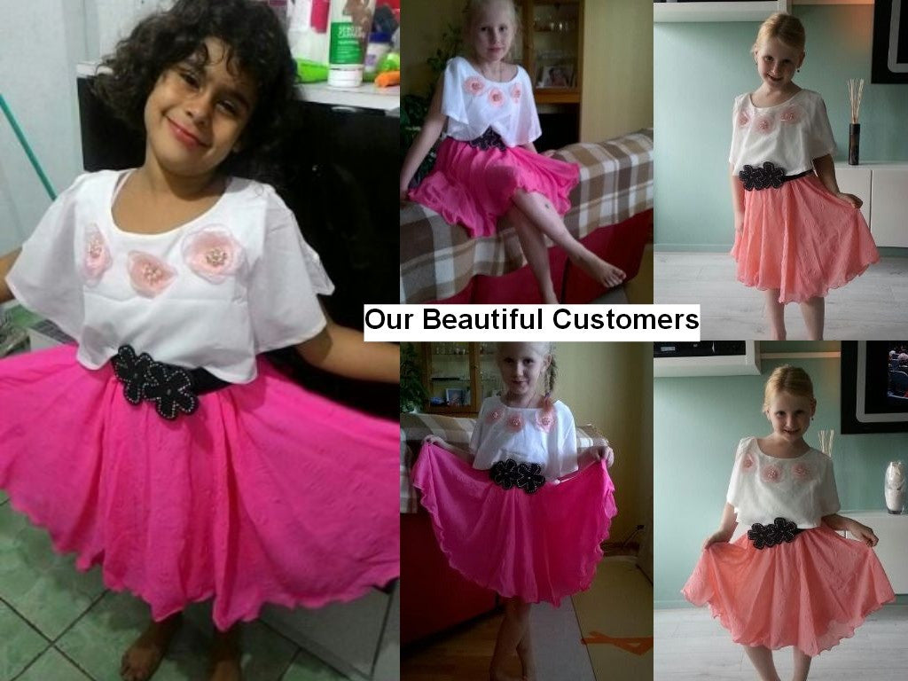 Casual Cotton Lace Dress for Girls for 4-12T - FOR MY LITTLE ANGELS