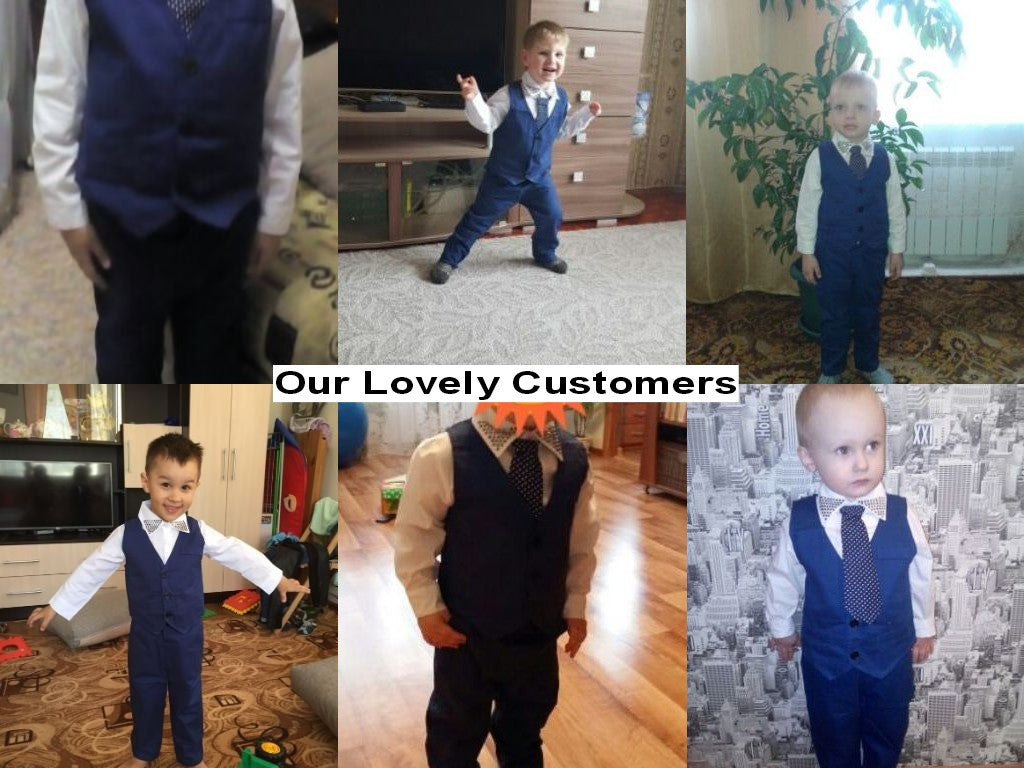 Baby Boys Gentleman Suit with Vest, Shirt + Tie and Pants (3pcs) 2-7T - FOR MY LITTLE ANGELS