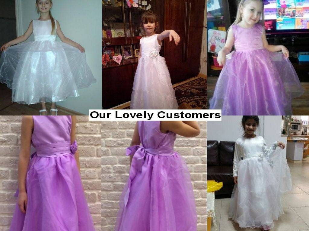 Girls Princess Style Sleeveless Dress with Ball Gown and Flower Detail 3-9T - FOR MY LITTLE ANGELS
