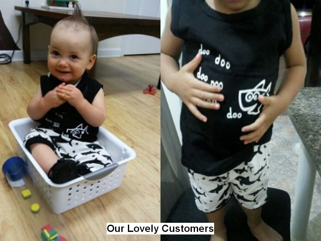 Spring/Summer Sleeveless Casual Baby Boys Clothing Set with Printed T Shirt and Shorts (2pcs) 6-24M - FOR MY LITTLE ANGELS