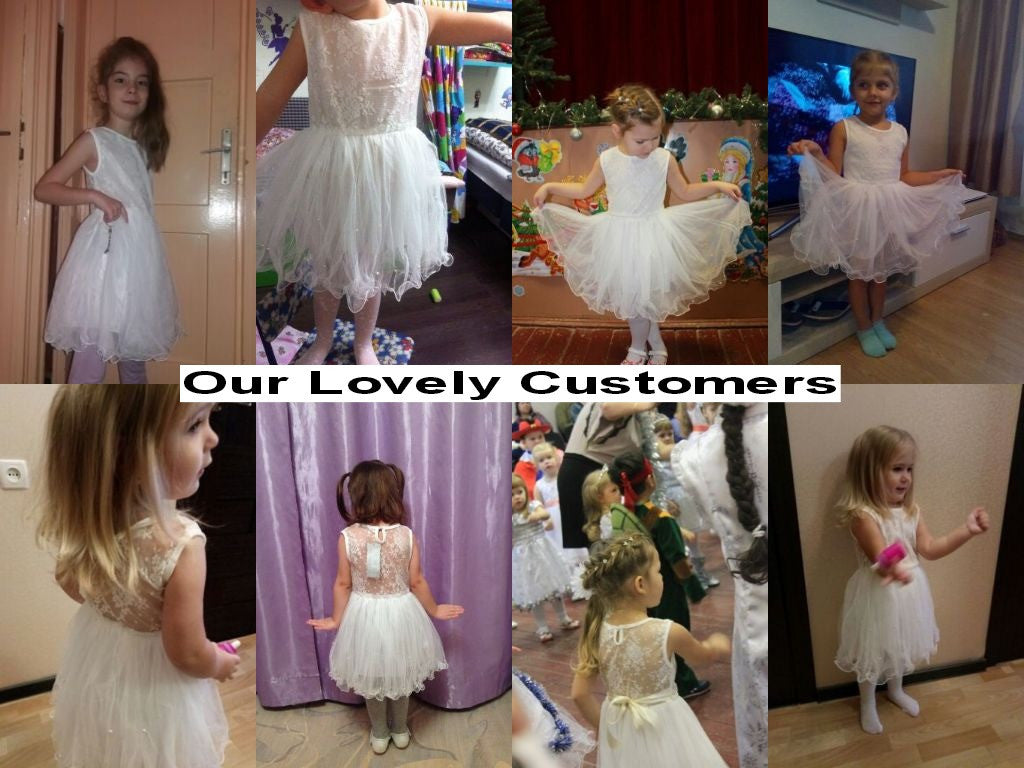 Spring/Summer Baby Girls Sleeveless Dress with Lace and Tulle Bottom 2-9T - FOR MY LITTLE ANGELS