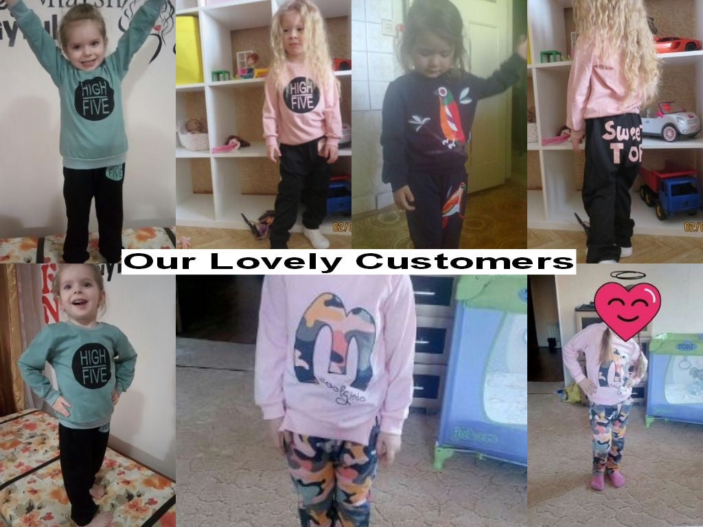 Autumn/Winter Unisex Baby Clothing Set with Longsleeve T Shirt and Casual Pants (2pcs) 3-7T - FOR MY LITTLE ANGELS