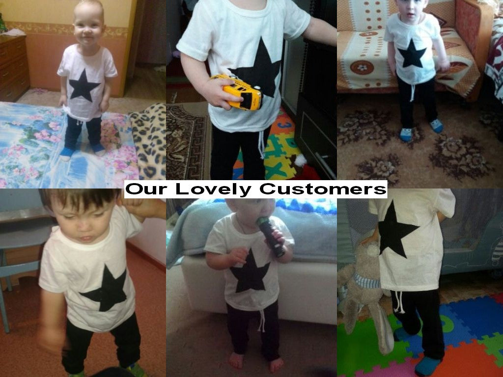 Spring/Summer Casual Baby Boys Clothing Set with Printed Shortsleeve T Shirt and Long Sweatpants (2pcs) 1-3T - FOR MY LITTLE ANGELS