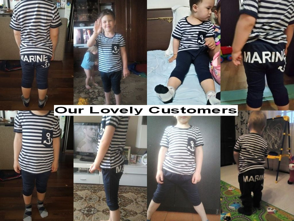 Summer/Spring Baby Boys Casual Clothing Set with Shortsleeve Printed T Shirt and Long Joggers (2pcs) 2-6T - FOR MY LITTLE ANGELS