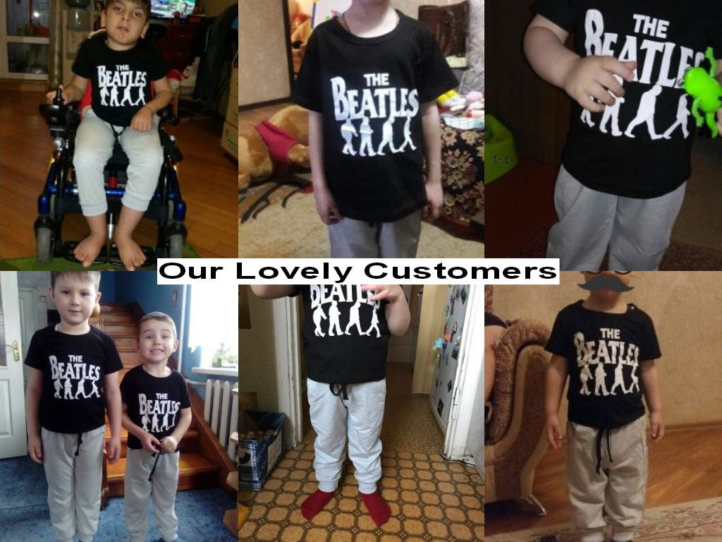 Spring/Autumn Baby Boys Casual Clothing Set with Shortsleeve The Beatles Printed T Shirt and Long Sweatpants (2pcs) 3-7T - FOR MY LITTLE ANGELS