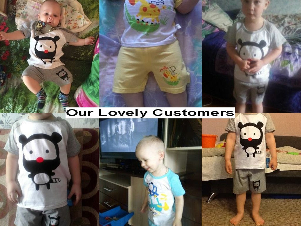 Spring/Summer Baby Boys Casual Clothing Set with Cartoon Printed T Shirt and Shorts (2pcs) 1-3T - FOR MY LITTLE ANGELS