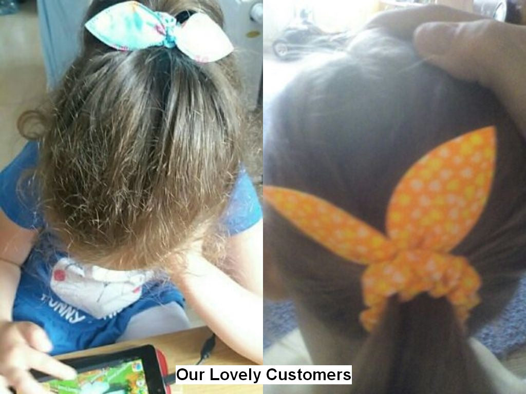 Colorful Bunny Ear Style Hair Tie for Kids with Pattern (10pcs) - FOR MY LITTLE ANGELS