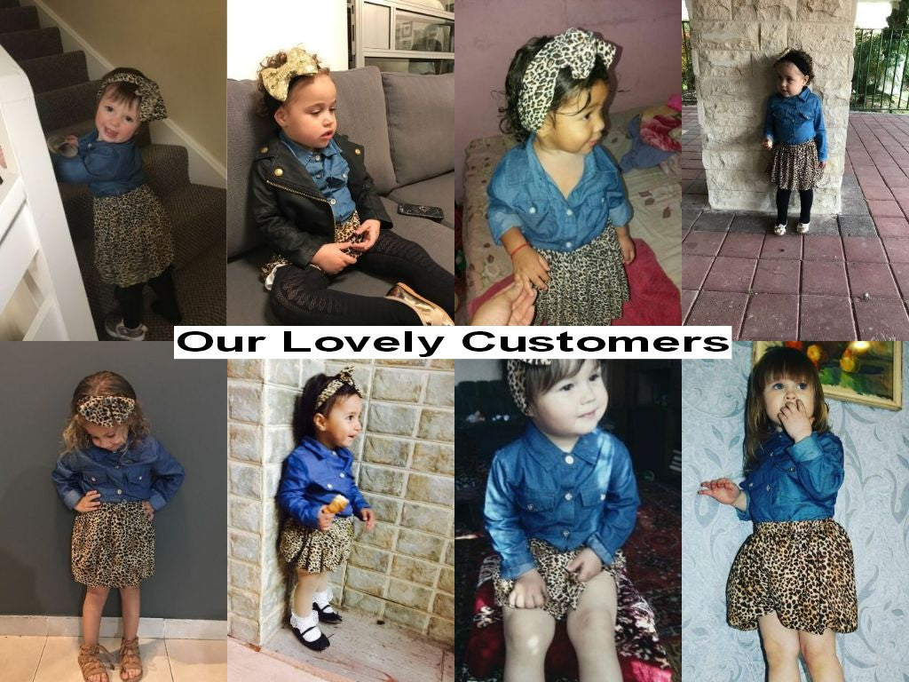 e8e3a8c0d Spring Autumn Baby Girl Clothing Set with Denim Shirt