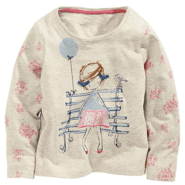 Cotton Long-sleeve T-shirt for Baby Girls for 18M-6T - FOR MY LITTLE ANGELS