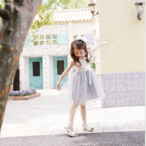 Summer Baby Girls Princess Tutu Dress with Lace Detail and Bow 3-10T - FOR MY LITTLE ANGELS