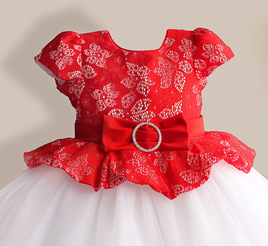 Silk and Lace Bow Princess Dress for Girls 3-8T - More Options Available - FOR MY LITTLE ANGELS