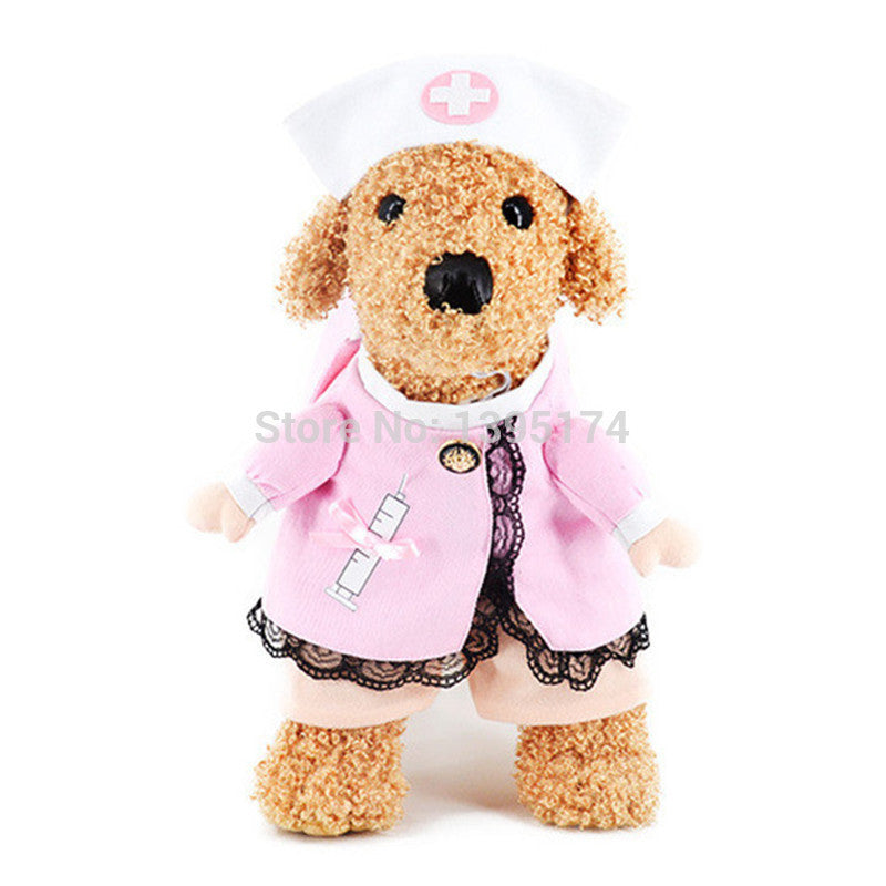 Nurse Uniform Costume Set for Pets + Hat (2pcs) - FOR MY LITTLE ANGELS