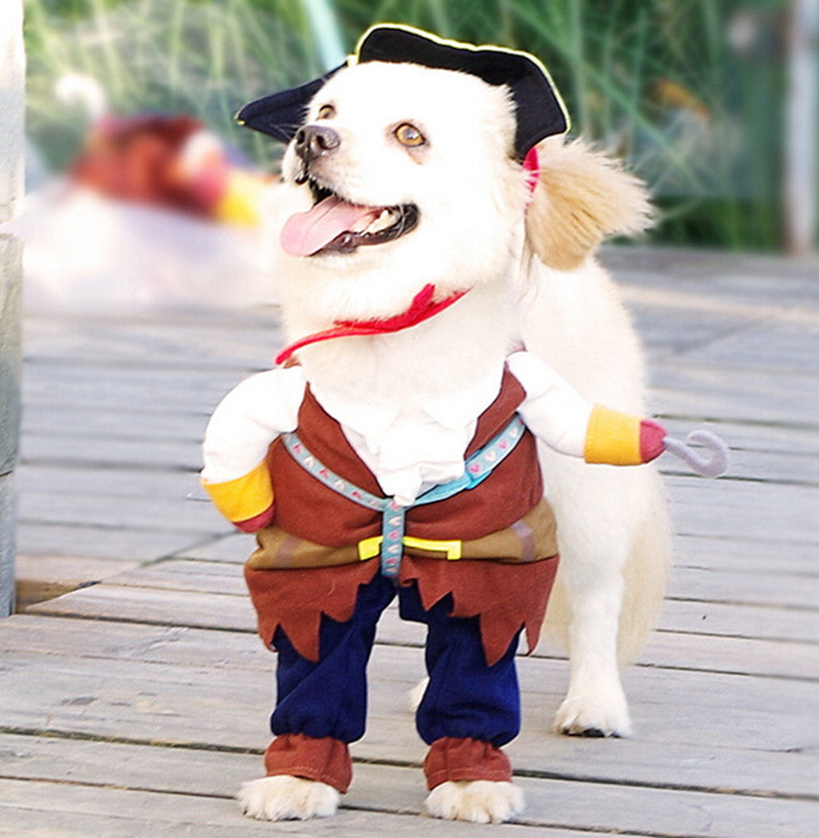 Caribbean Pirate Costume Set for Pets + Hat (2pcs) - FOR MY LITTLE ANGELS