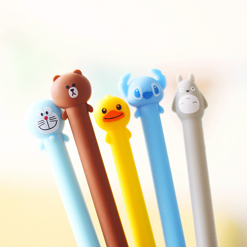 Cartoon Character Black Ink Gel Pen for School Supplies (1pc) - FOR MY LITTLE ANGELS