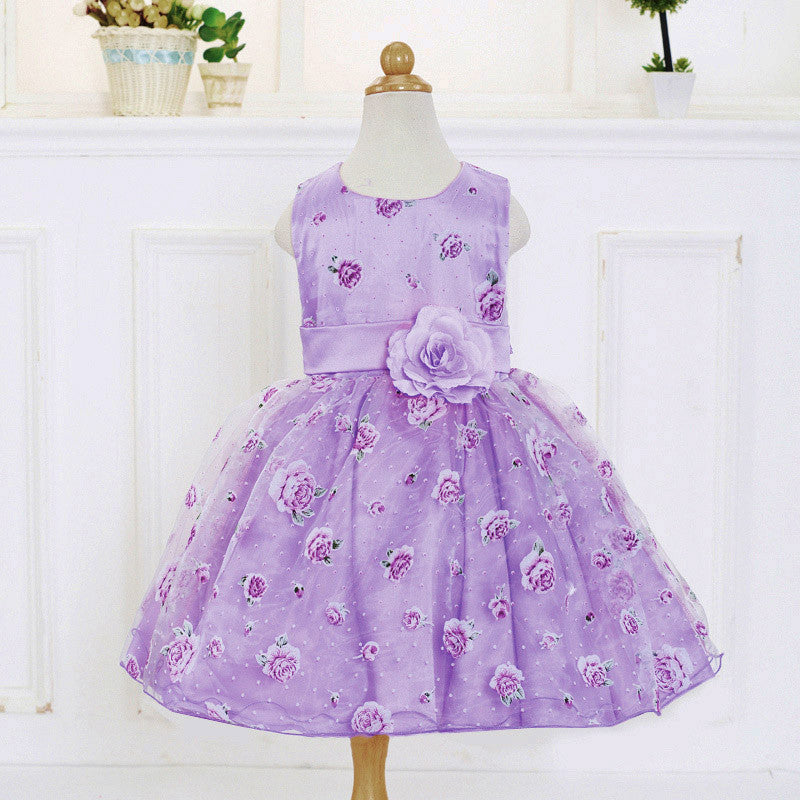 Retail Mesh Flower Dress for Girls 3-8T - FOR MY LITTLE ANGELS
