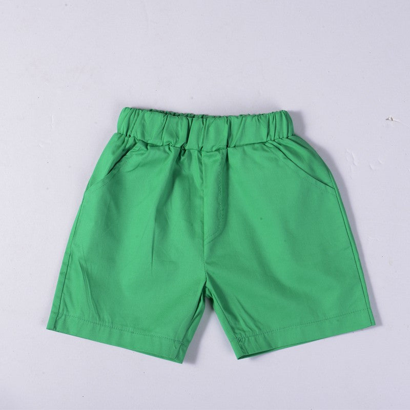 Summer Baby Boys Clothing Set with Grid Bow Shirt and Green Shorts (2pcs) 2-6T - FOR MY LITTLE ANGELS