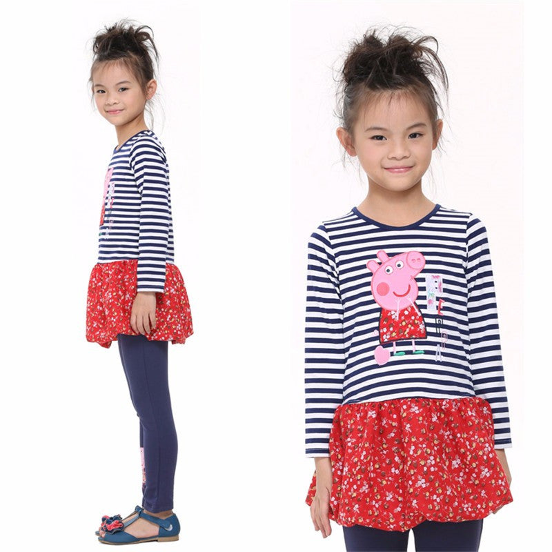 Long-sleeved Cartoon Character Dress for Girls 2-8T - FOR MY LITTLE ANGELS