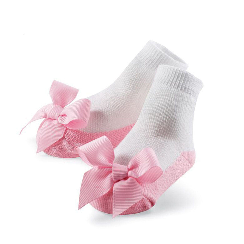 Socks for Baby Girls Newborn with Big Bow 0-12M - More Colors Available - FOR MY LITTLE ANGELS