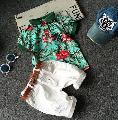 Summer Style Unisex Girls Boys or Baby Clothing Set (3 pieces) - More Options Available - FOR MY LITTLE ANGELS
