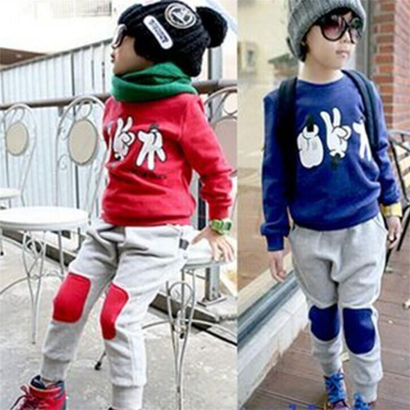 2pcs Toddler Kids Baby Boys Mickey Mouse Sport Tracksuits Outfit Clothing Sets