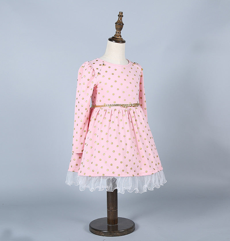 Polka Dots Cotton Dress for Girls 3-8T - FOR MY LITTLE ANGELS
