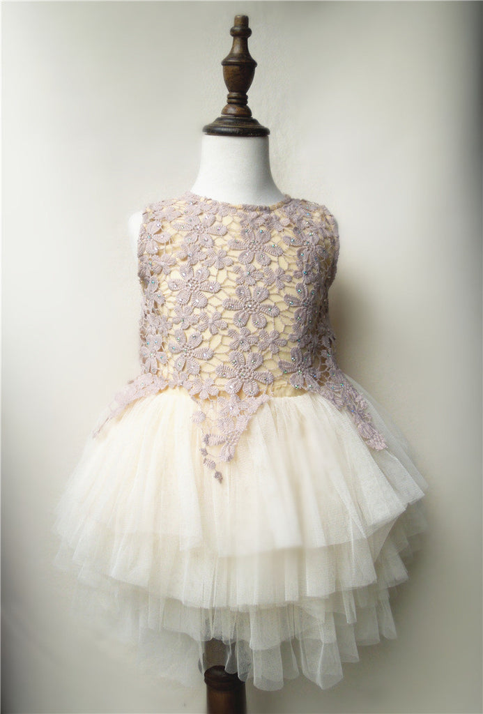 Tulle Dress in Wedding Style for Girls 2-8T - FOR MY LITTLE ANGELS