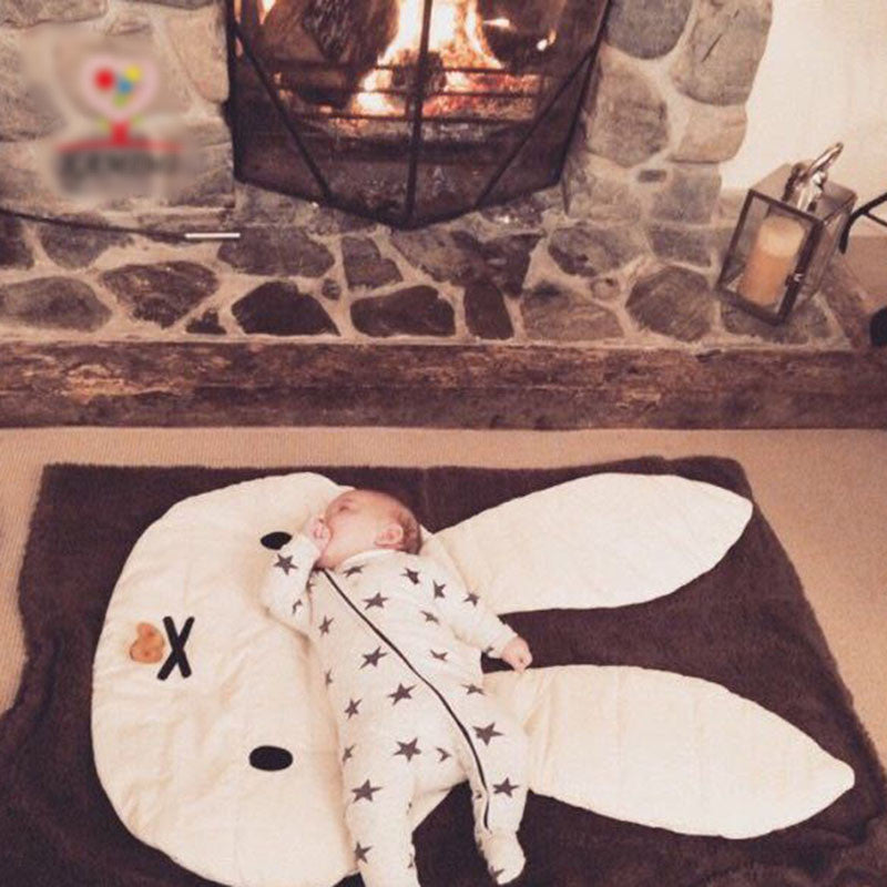 Rabbit Soft Cotton Crawling Blanket for Newborn Baby (1pc) - FOR MY LITTLE ANGELS
