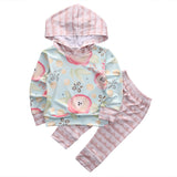 Baby Girls Clothing Set with Long Sleeve Hoodie + Pants (2pcs) for 4-18 Months - FOR MY LITTLE ANGELS