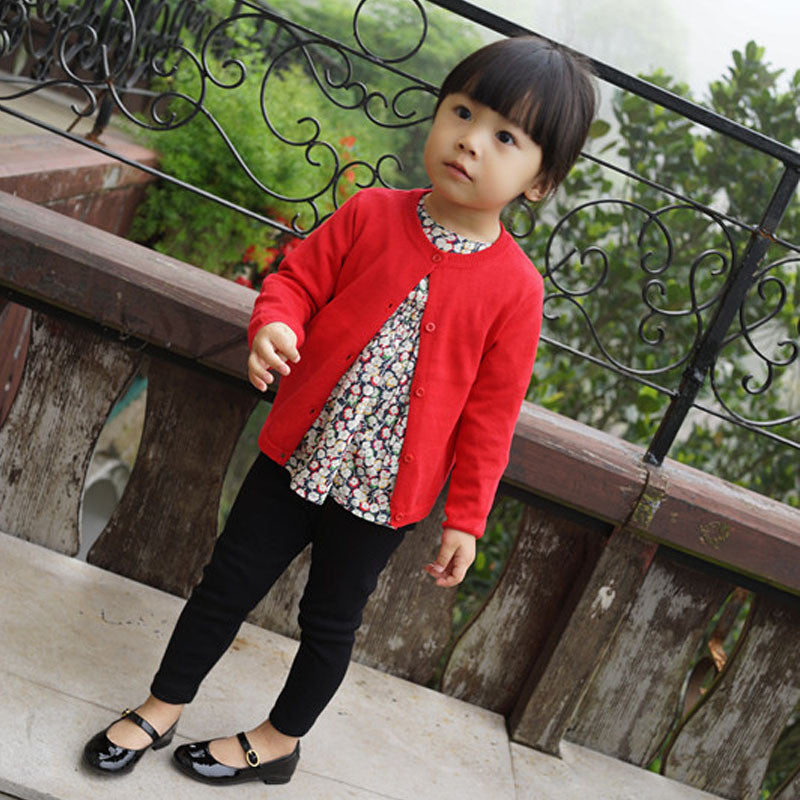 Unisex Basic Long Sleeve Cardigan with O-neck and Button Up 18M-5T - More Colors Available - FOR MY LITTLE ANGELS