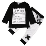 Baby Boys Long Sleeve Clothing Set with T-Shirt + Long Pants for 2-6T (2pcs) - FOR MY LITTLE ANGELS