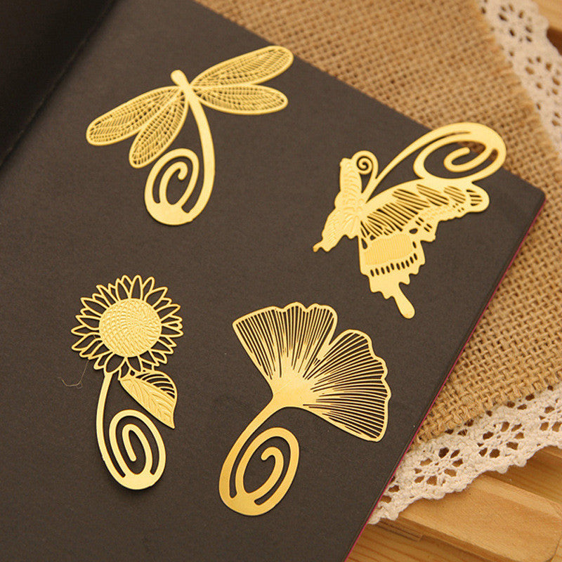 Beautiful Metal Cutout Bookmark of Butterfly, Daisy Flower, Dragonfly - FOR MY LITTLE ANGELS